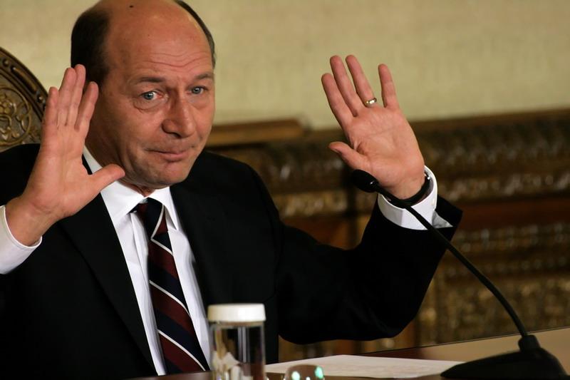 Presedintele Romaniei, Traian Basescu, sustine o conferinta de presa, la Cotroceni, in Bucuresti, luni, 24 noiembrie 2008. SZAVUJ ATTILA / MEDIAFAX FOTO